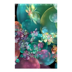 Butterflies, Bubbles, And Flowers Shower Curtain 48  X 72  (small)  by WolfepawFractals