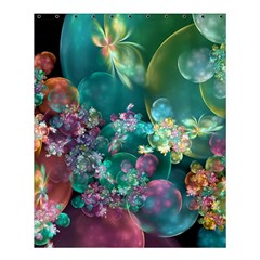 Butterflies, Bubbles, And Flowers Shower Curtain 60  X 72  (medium)  by WolfepawFractals