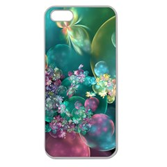 Butterflies, Bubbles, And Flowers Apple Seamless Iphone 5 Case (clear) by WolfepawFractals