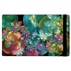 Butterflies, Bubbles, And Flowers Apple Ipad 2 Flip Case by WolfepawFractals