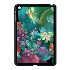 Butterflies, Bubbles, And Flowers Apple Ipad Mini Case (black) by WolfepawFractals