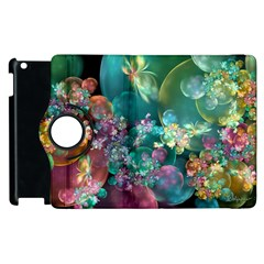 Butterflies, Bubbles, And Flowers Apple Ipad 3/4 Flip 360 Case by WolfepawFractals