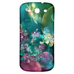 Butterflies, Bubbles, And Flowers Samsung Galaxy S3 S Iii Classic Hardshell Back Case by WolfepawFractals