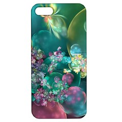 Butterflies, Bubbles, And Flowers Apple Iphone 5 Hardshell Case With Stand by WolfepawFractals