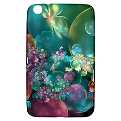 Butterflies, Bubbles, And Flowers Samsung Galaxy Tab 3 (8 ) T3100 Hardshell Case  by WolfepawFractals