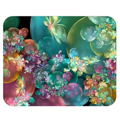 Butterflies, Bubbles, And Flowers Double Sided Flano Blanket (Medium)  by WolfepawFractals