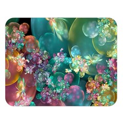 Butterflies, Bubbles, And Flowers Double Sided Flano Blanket (large)  by WolfepawFractals