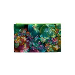 Butterflies, Bubbles, And Flowers Cosmetic Bag (xs) by WolfepawFractals