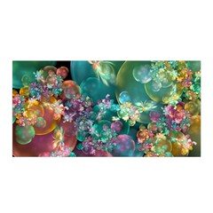 Butterflies, Bubbles, And Flowers Satin Wrap by WolfepawFractals