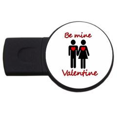 Be Mine Valentine Usb Flash Drive Round (2 Gb)  by Valentinaart