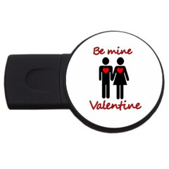 Be Mine Valentine Usb Flash Drive Round (4 Gb)  by Valentinaart