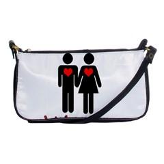 Be Mine Valentine Shoulder Clutch Bags by Valentinaart