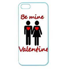 Be Mine Valentine Apple Seamless Iphone 5 Case (color) by Valentinaart