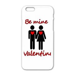Be Mine Valentine Apple Iphone 6/6s White Enamel Case by Valentinaart