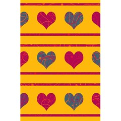 Decorative harts pattern 5.5  x 8.5  Notebooks by Valentinaart