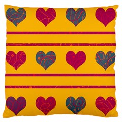 Decorative Harts Pattern Large Cushion Case (one Side) by Valentinaart