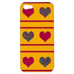 Decorative Harts Pattern Apple Iphone 5 Hardshell Case by Valentinaart