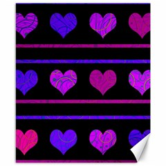 Purple And Magenta Harts Pattern Canvas 8  X 10  by Valentinaart