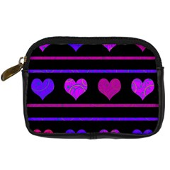 Purple And Magenta Harts Pattern Digital Camera Cases by Valentinaart