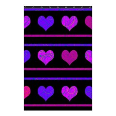 Purple And Magenta Harts Pattern Shower Curtain 48  X 72  (small)  by Valentinaart