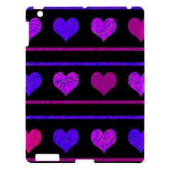 Purple And Magenta Harts Pattern Apple Ipad 3/4 Hardshell Case by Valentinaart