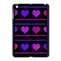 Purple And Magenta Harts Pattern Apple Ipad Mini Case (black) by Valentinaart