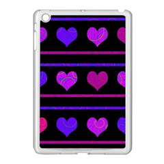Purple And Magenta Harts Pattern Apple Ipad Mini Case (white) by Valentinaart