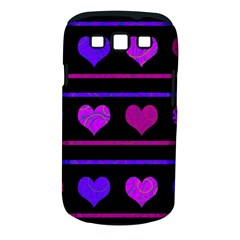 Purple And Magenta Harts Pattern Samsung Galaxy S Iii Classic Hardshell Case (pc+silicone) by Valentinaart