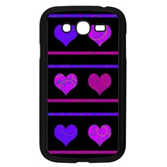 Purple And Magenta Harts Pattern Samsung Galaxy Grand Duos I9082 Case (black) by Valentinaart