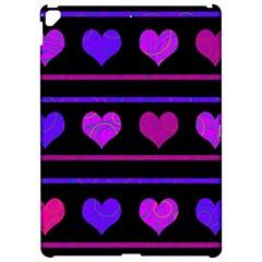 Purple And Magenta Harts Pattern Apple Ipad Pro 12 9   Hardshell Case by Valentinaart