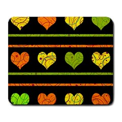 Colorful Harts Pattern Large Mousepads by Valentinaart