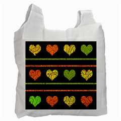 Colorful Harts Pattern Recycle Bag (two Side)  by Valentinaart