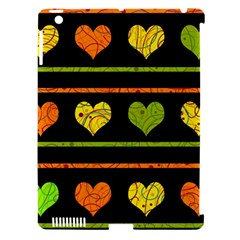 Colorful Harts Pattern Apple Ipad 3/4 Hardshell Case (compatible With Smart Cover) by Valentinaart