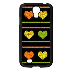 Colorful Harts Pattern Samsung Galaxy S4 I9500/ I9505 Case (black) by Valentinaart