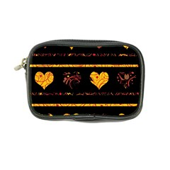 Yellow Harts Pattern Coin Purse by Valentinaart