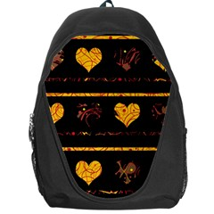 Yellow Harts Pattern Backpack Bag by Valentinaart