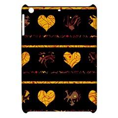 Yellow Harts Pattern Apple Ipad Mini Hardshell Case by Valentinaart