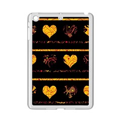 Yellow Harts Pattern Ipad Mini 2 Enamel Coated Cases by Valentinaart