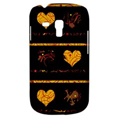Yellow Harts Pattern Galaxy S3 Mini by Valentinaart