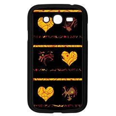 Yellow Harts Pattern Samsung Galaxy Grand Duos I9082 Case (black) by Valentinaart