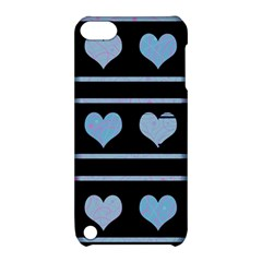 Blue Harts Pattern Apple Ipod Touch 5 Hardshell Case With Stand by Valentinaart