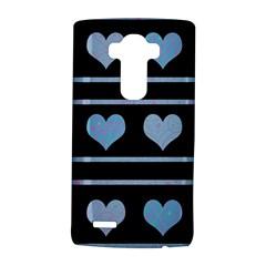 Blue harts pattern LG G4 Hardshell Case by Valentinaart
