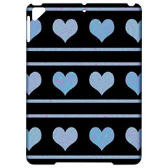 Blue Harts Pattern Apple Ipad Pro 9 7   Hardshell Case by Valentinaart