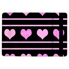 Pink Harts Pattern Ipad Air Flip by Valentinaart