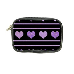 Purple Harts Pattern Coin Purse by Valentinaart