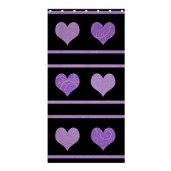 Purple Harts Pattern Shower Curtain 36  X 72  (stall)  by Valentinaart