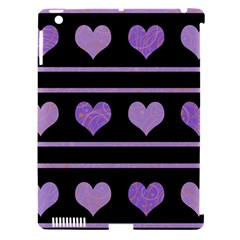 Purple Harts Pattern Apple Ipad 3/4 Hardshell Case (compatible With Smart Cover) by Valentinaart