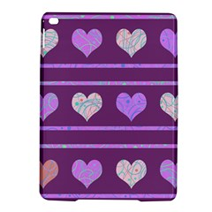 Purple Harts Pattern 2 Ipad Air 2 Hardshell Cases by Valentinaart