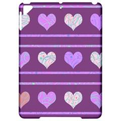 Purple Harts Pattern 2 Apple Ipad Pro 9 7   Hardshell Case by Valentinaart
