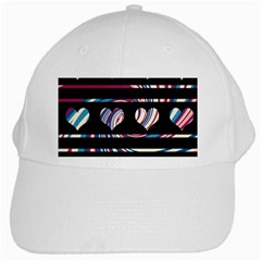 Colorful Harts Pattern White Cap by Valentinaart